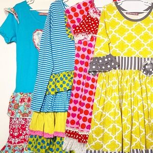 Jelly The Pug Lot of 4 Dresses 12/14 NWOT